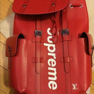 LV Supreme Back Pack
